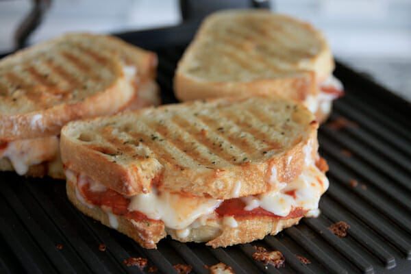 Cheesy Grilled Pizza Sandwich Our Best Bites