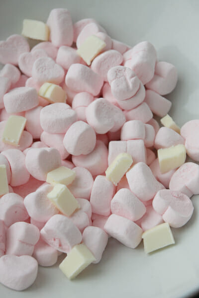 Heart Mallows and Butter