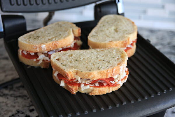 Pizza Panini on the Grill