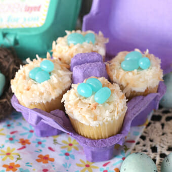 Egg Carton Printable with Easy Easter Cupcakes!