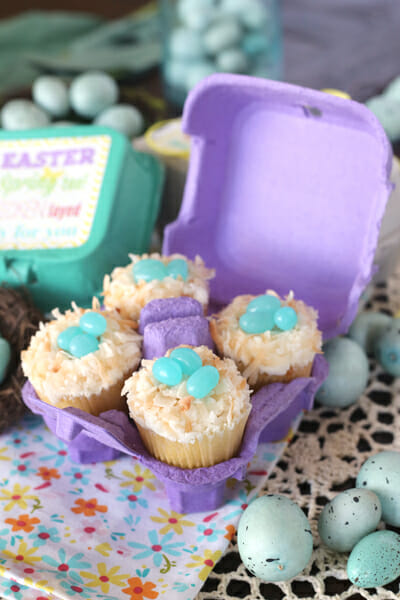 Cupcakes in an Egg Carton