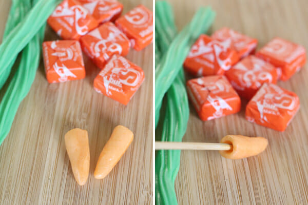 Making Candy Carrots