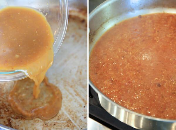 Simmering Orange Sauce