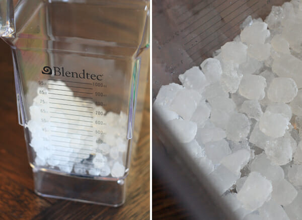 ice in Blendtec