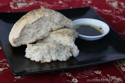 rosemary bread broken