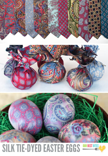 silk dyed easter egg
