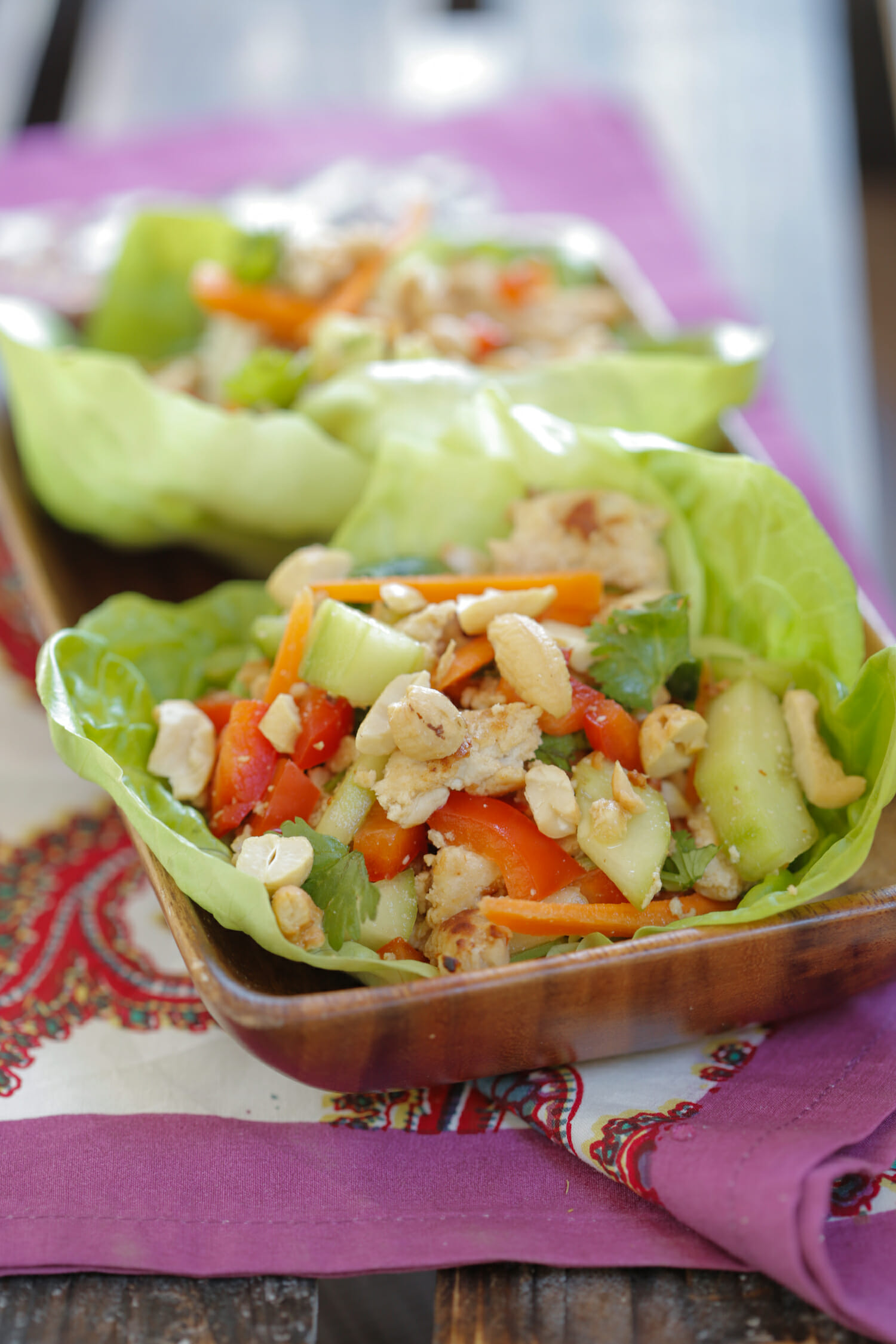 spicy turkey lettuce wraps from our best bites