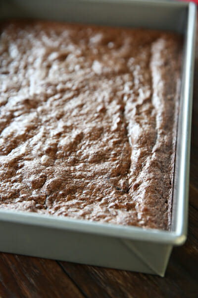 Baked Brownie Top