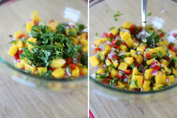 Mango Salsa with cilantro