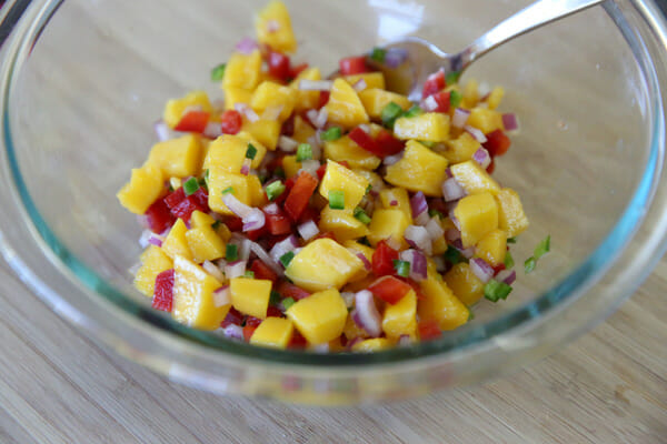 Mixed up mango salsa