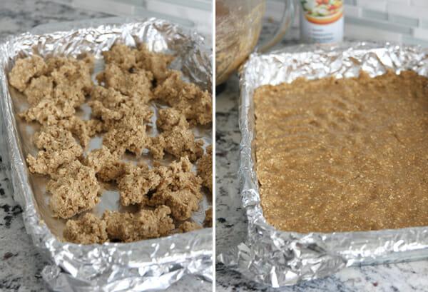 Pressing Dough into Pan
