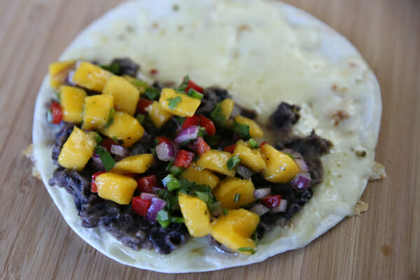 Quesadilla with Mango Salsa