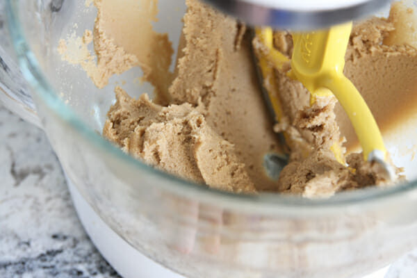 Soft peanut butter cookie dough