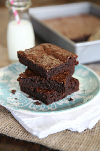 The pefect chocolate brownie recipe from Our Best Bites