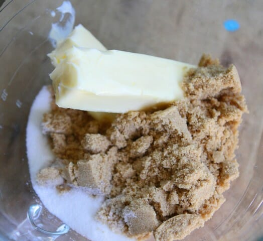 butter brown sugar white sugar