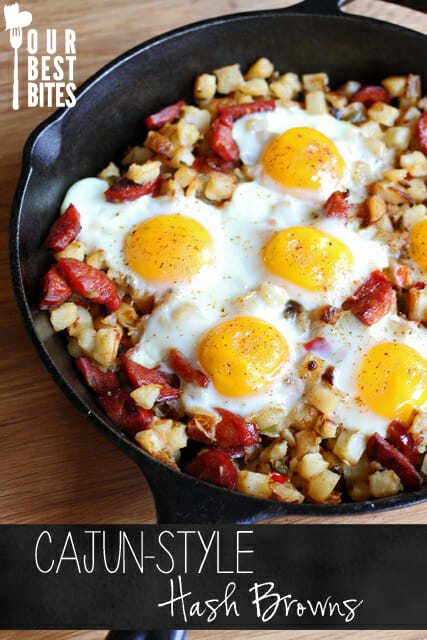 Cajun Style Hash Brown Skillet from Our Best Bites