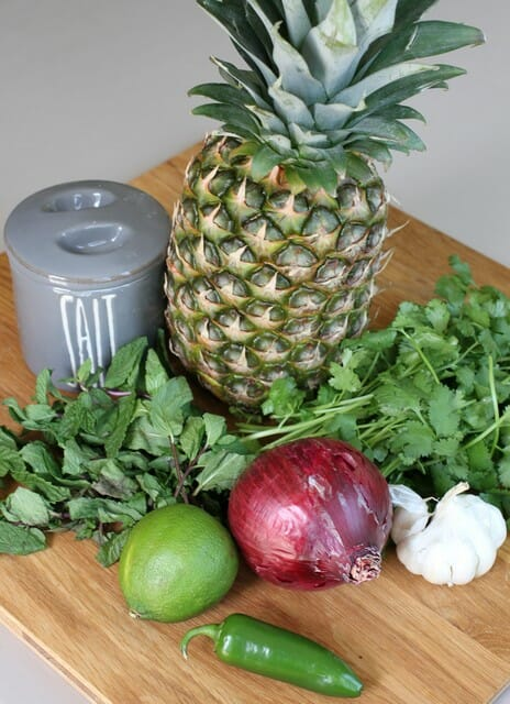 mint pineapple pico de gallo0