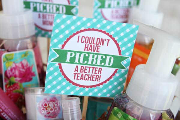 Berry Basket Tags for Teacher Appreciation
