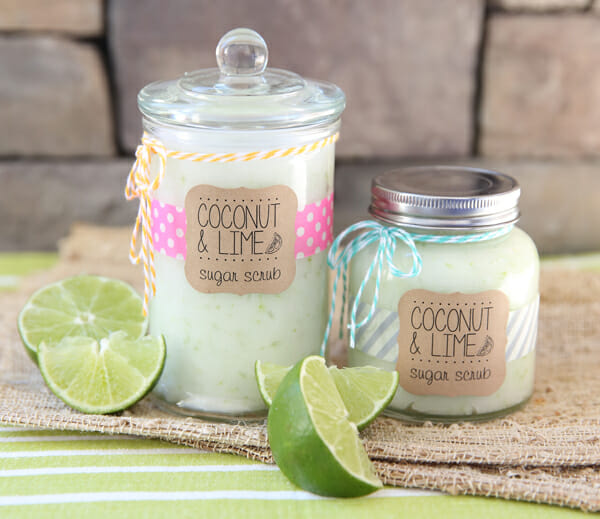 Coconut Lime Sugar Scrub from Our Best Bites