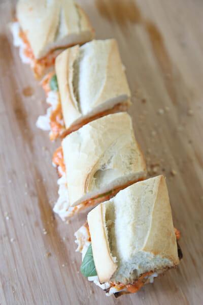 Cut Italian Sandwiches