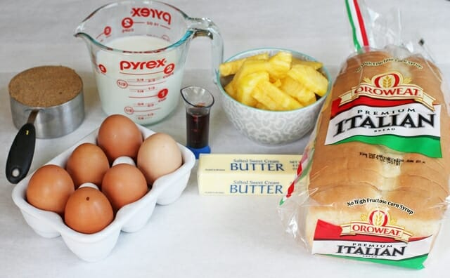 pineapple upside down french toast ingredients