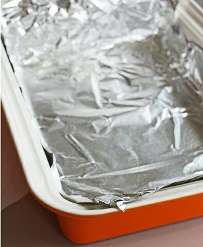 lined baking sheet