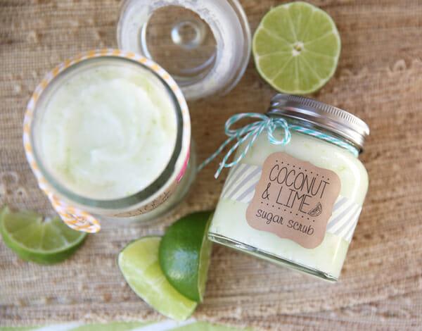 Silky Coconut Lime Sugar Scrub