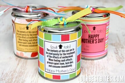 Tin Can Treats from Our Best Bites for Mother's Day and Teachers too