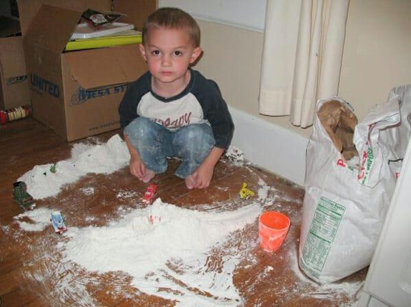 Trains in Flour