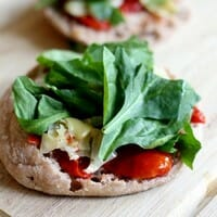 Grown-Up English Muffin Pizzas