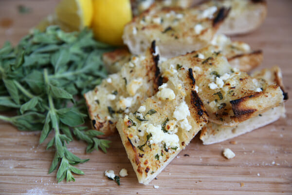 Herbed Feta Garlic Bread from Our Best Bites