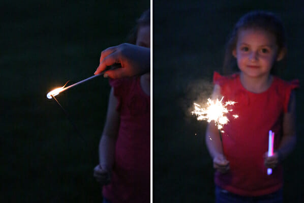 M with Sparklers