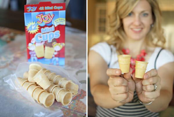 Mini Ice Cream Cones from Our Best Bites