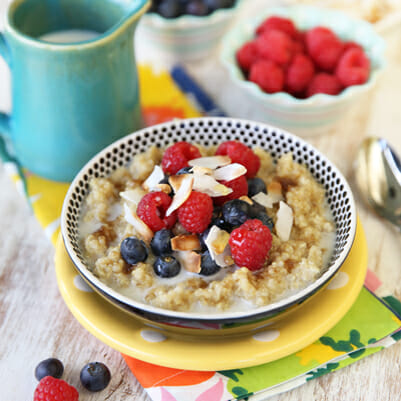 Coconut-Almond Breakfast Quinoa
