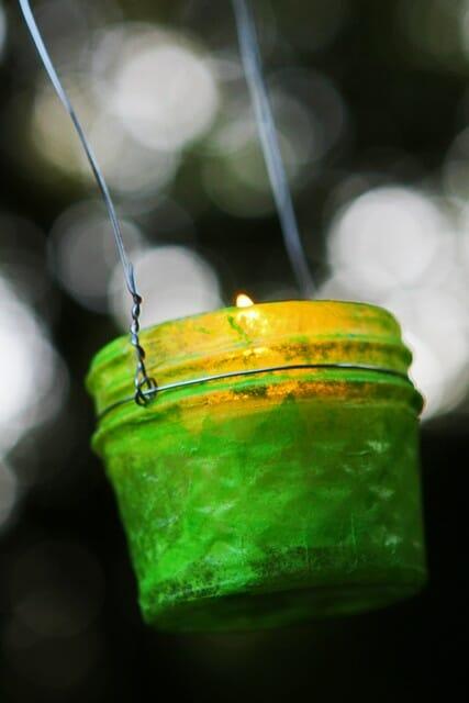 green jar lantern
