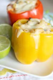 Cheesy Pasta Stuffed Peppers