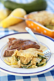 Cheesy Zucchini Gratin with Breadcrumb Topping from Our Best Bites