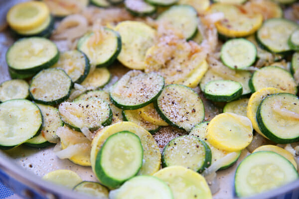 Cooked Sliced Zucchini