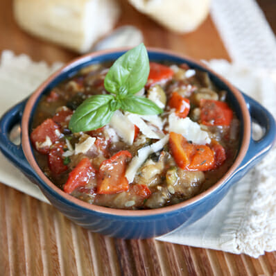 Slow Cooker Ratatouille {Summer Vegetable Stew}