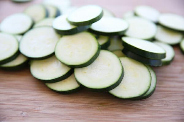 Sliced Zucchini