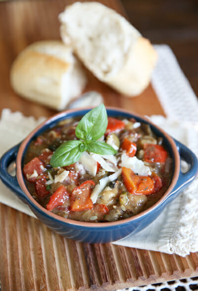 The perfect summer garden meal-Slow Cooker Ratatouille from Our Best Bites