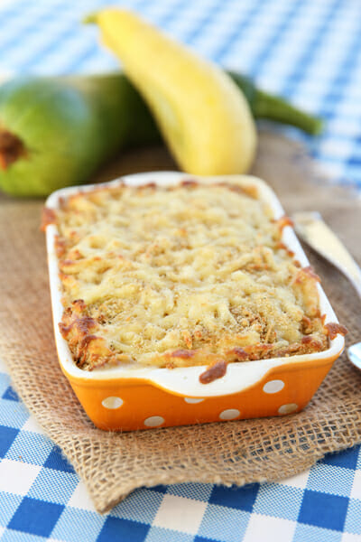 Yummy Cheese Topped Zucchini Bake from Our Best Bites