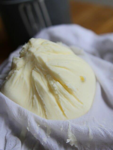 freshly made ball of butter