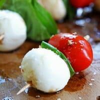 Bite-Sized Caprese Appetizers