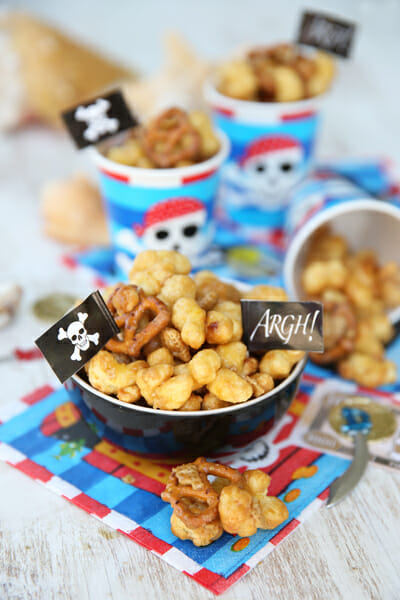 Caramel Covered Pirates Bootie Mix from Our Best Bites