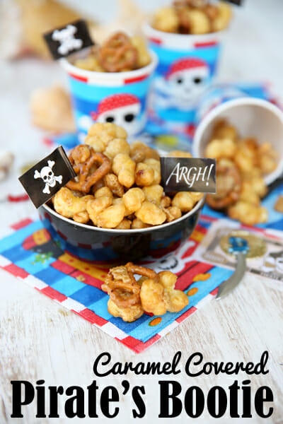 Caramel Covered Pirate's Bootie Snack Mix from Our Best Bites