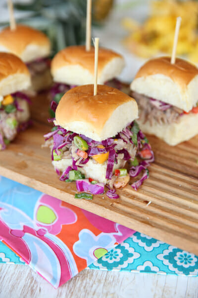 Kalua Pork Sliders from Our Best Bites