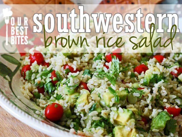 America's Test Kitchen's Southwestern brown rice salad from Our Best Bites--healthy and Delicious!
