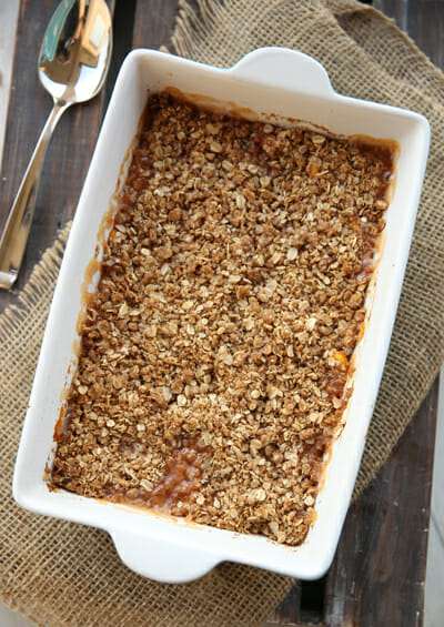 Baked Peach Crisp from Our Best Bites