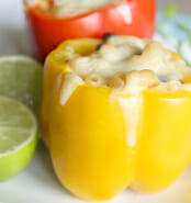 Jalapeno Macaroni & Cheese Stuffed Bell Peppers
